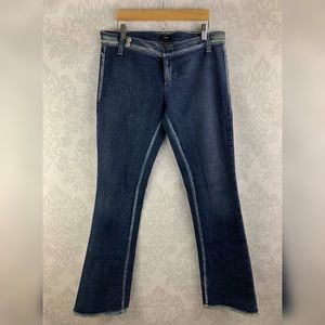 GUESS Bleached Hemline Stretch Jeans